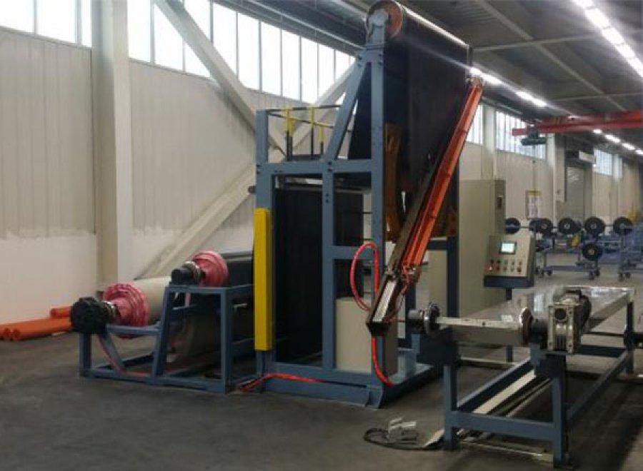 Vertical cutting machine for fabric cord