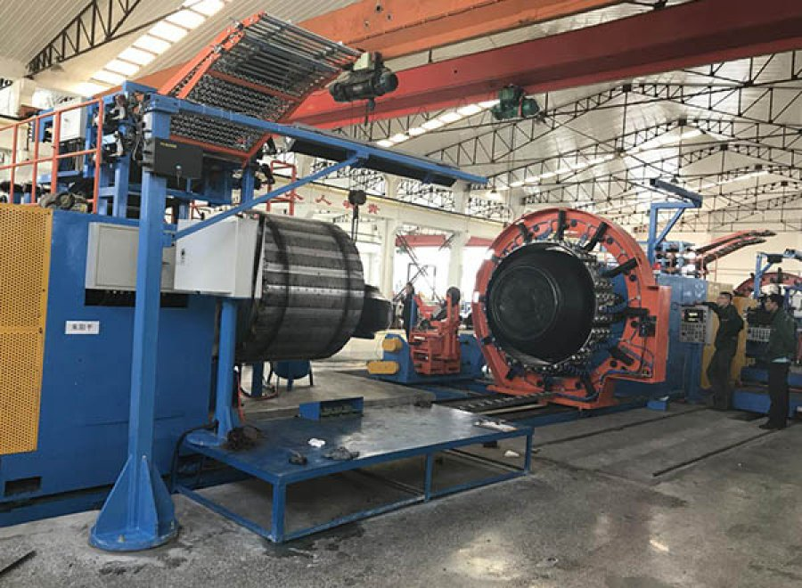 Radial agricultural tire building machine (upgrade structure)