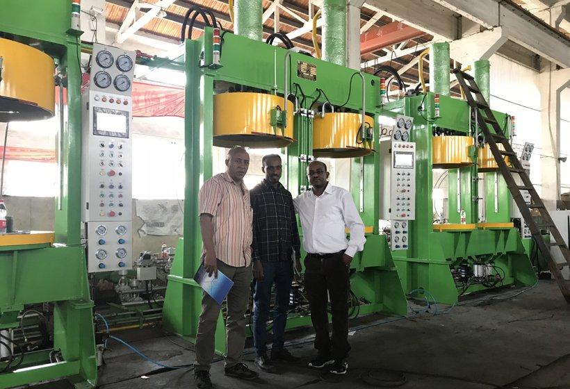 Inspection for bajaj tire press