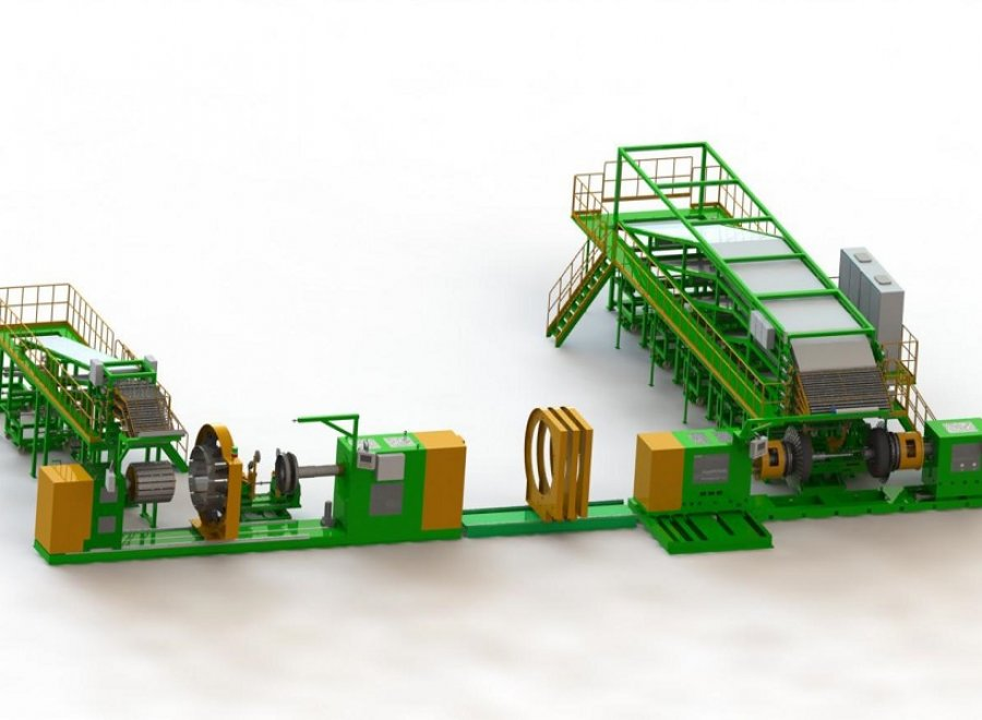 """24""""-42"""" Integrated type Agricultural radial tire building machine(Advanced type)"""