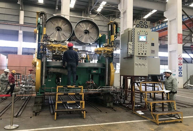 Commissioning of tire curing press