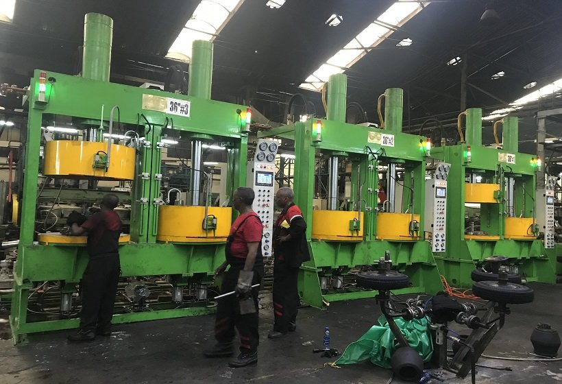 Commissioning for Bajaj tire curing press