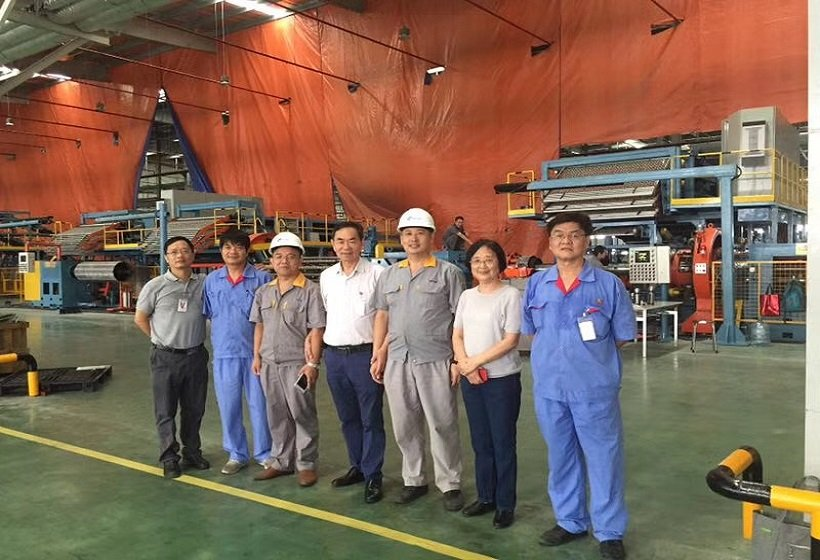 Commissioning of OTR tire building machine in Vietnam